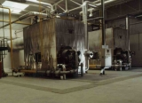 sala de máquinas aislada chapa de aluminio